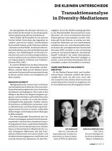 Die kleinen Unterschiede. Transaktionsanalyse in Diversity-Meditationen
